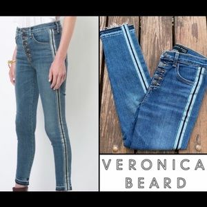Veronica Beard Debbie High Rise Tuxedo Skinny Jean